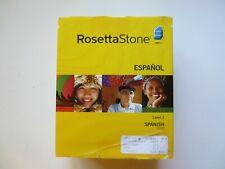 ROSETTA STONE ESPANOL SPANISH (Latin America) VERSION 3 LEVELS 1,2,3 for PC, Mac