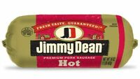 Jimmy Dean Premium Hot Pork Sausage 16 Oz (4 Pack)