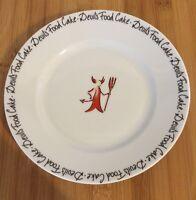 "10 Strawberry St. Red Devil's Food Cake DESSERT PLATE 7 3/4"""