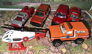 Lot Of 6 Matchbox Park Ranger & Field Fire Trucks Crew New Loose Die Cast 1:64