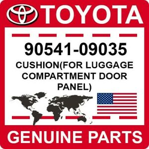 90541-09035 Toyota OEM Genuine CUSHION(FOR LUGGAGE COMPARTMENT DOOR PANEL)