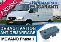 Clé de désactivation d'anti démarrage Opel MOVANO PHASE 1