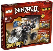 """LEGO® NINJAGO 66394 """"Super Pack 3 in 1"""" 2506+2259+2260 Rar 2011 NEU & OVP!"""