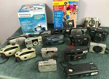 Vintage Camera Job Lot Untested. Miranda, Canon, Fujifilm, Kodak, Minolta + More