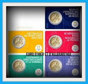 FRANCE 5 X 2 EUROS 2021 BU JEUX OLYMPIQUES 2024  PREVENTE SUPER PROMO !!!!!!!!!
