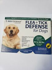 VETRI SCIENCE FLEA + TICK DEFENSE FOR DOGS 45 TO 88 LBS. DOGS AND PUPPIES