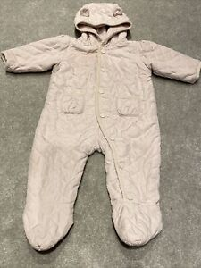 Baby Gap Girls Pink Padded Play Suit All In One Age 6-12 Months