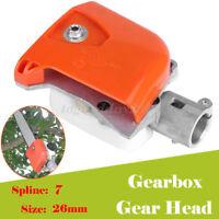 Pole Saw Chainsaw Gear Head Gearbox 7 Spline 26mm Universal Head