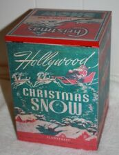 Vintage Christmas Sparkle Doubl-Glo Snow Wooden Box Made in the U.S.A. 9 x 6.5