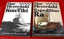 2 x Thor Heyerdahl-en el paquete-RDA gasto-náutico descubrimiento viajes