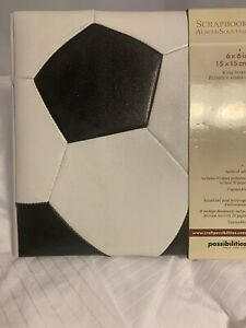 Possibilities Soccer Themed Ring Bound Scrapbook Album-Souvenir - New Lot Of 4