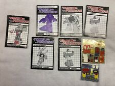 Transformers G1 instructions book lot