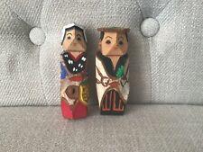 Japanese Mini Kokeshi Hand Carved Doll Souvenir Folk Crafts