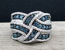 Sapphire 925 Silver Ring Infinity Jewelry Wedding Engagement Party  Size 6-10