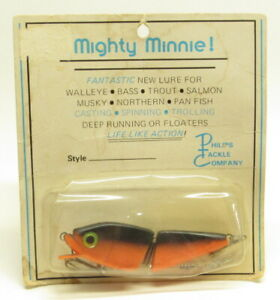 Vintage Mighty Minnie, Fish Lure, Traverse City, Michigan,1970's, New in Package