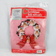Hobby Craft Angels on High Christmas Jeweled Felt Soft Sculpture Wreath Kit New