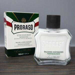 PRORASO Green After shave BALM, Eucalyptus Fragrance 100ml / 3.4oz Refreshing