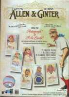 Topps 2020 Allen & Ginter Blaster Box  Factory sealed