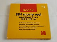 Vtg Kodak 884 Smoke Tinted Anchor Type Movie Reel Super 8 and 8mm 400ft With Box