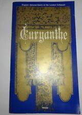 Euryanthe programme English National Opera London Coliseum 1977 ENO