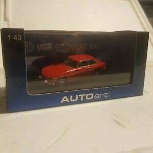 Autoart 1:43 MGB GT Coupe MK2 1969 Red quality model car