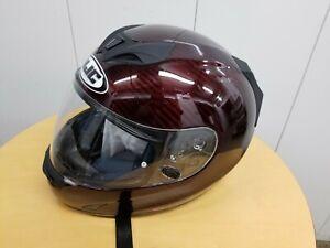 Like New L LARGE HJC FS-15 Red Carbon Helmet
