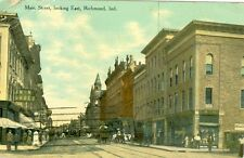 Richmond, IN N & N Shoes and 5 & 10c Store on Main Street looking East 1911