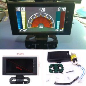 Multipurpose LCD Digital 6'' Auto Meter LED Oil Pressure VOLT Water Temp Gauge