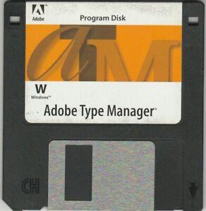 "Adobe Type Manager Program Disk for Windows ~ 3.5"" Disk ~ 1994"