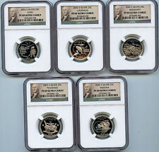 2002S Silver State Proof Quarter PF69 UCAM NGC 25c Certified 5 Coin Set