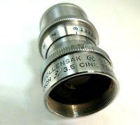 "Wollensak  1 1/2"" f3.5 Cine Raptar  D-MOUNT LENS 16mm thread size Telephoto"