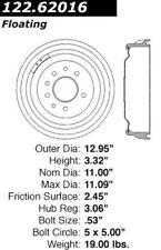 123.62016 - Centric Brake Drum,  Priced 2 Sell!