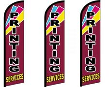 Printing Services Windless King Size Flag  Pack of 3 (HARDWARE NOT INCLUDED)