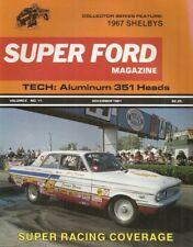 SUPER FORD UNCIRCULATED 1981 NOV - GTO MUSTANG, CLUB PANTERA, 351W SK HEADS