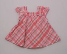 "Gymboree ""Bright Tulip"" Pink Green White Plaid Swing Top, 18-24 mos."