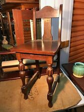Vintage Australian 1930's Qld Maple Childs Dining Chair Turned legs