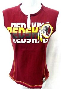 NFL Washington Redskins Football Ladies Sleeveless Burgundy Team Logo Shirt