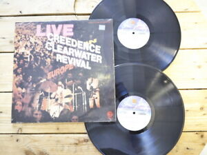 CREEDENCE CLEARWATER REVIVAL LIVE IN EUROPE LP 33T VINYLE EX COVER EX ORI 1971