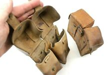2 x YUGOSLAVIAN ARMY M48 MAUSER JNA LEATHER DUO AMMO POUCHES (NO3)