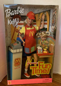2001 Mattel Barbie and Kelly MCDONALD'S FUN TIME! New, Sealed