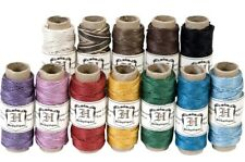 Pack of 12 Colors HEMP CORD  0.5mm Craft Jewelry Bracelet 10# test weight 348 ft