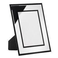 PREMIER HOUSEWARES PHOTO FRAME DECORATION COLLECTION MEADOW BLACK MIRRORED NEW