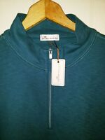 Peter Millar Collection Half Zip Pullover Large NWT $135.00 Spurg Green