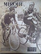 CYCLISME BELGE JEFF SOMERS GAGNE LE 47e BORDEAUX PARIS N° 54 MIROIR SPRINT 1947