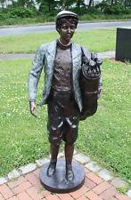 Bronzeskulptur, Golfspieler, Gartendekoration