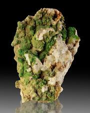 "5"" GrassGreen PYROMORPHITE Crystals onWhiteQuartz Loudville MA R&M 3/01 for sale"