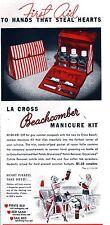 PUBBLICITA' LA CROSS BEACHCOMBERS MANICURE KIT SMALTO DONNE PIRATA TESORO 1940