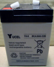 Yuasa Yucell Y4-6 Lead Acid Rechargeable Battery 6V - 4Ah, NP4-6, NP4.5-6
