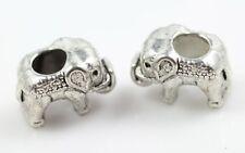 Wholesale 10pc alloy elephant Beads Fit Charm Bracelet