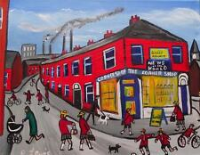 Schools Out Original Northern Art Colourist Oil Painting on Canvas : Phil Lewis